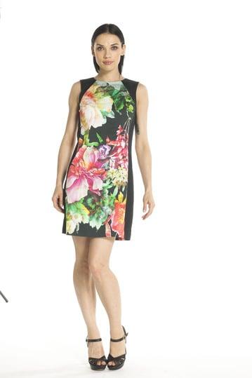 Robe coton imprimé fleurs - Robe Backgammon   Derhy