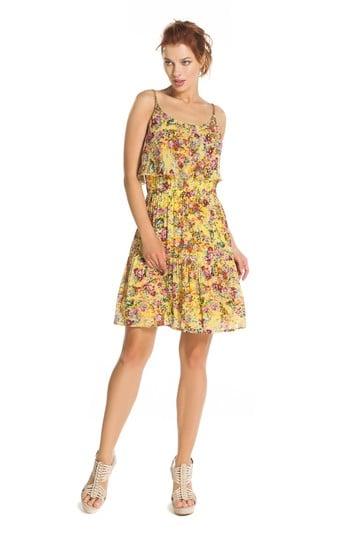 Robe imprimé fleurs bretelles - Robe Baisemain | Derhy