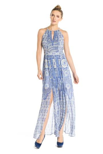 Robe longue imprimée jupe ouverte - Robe Basson | Derhy