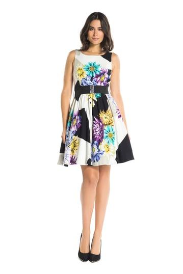 Robe imprimée fleurs - Robe Bernique | Derhy