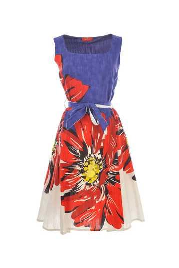 Robe en coton imprimé fleurs