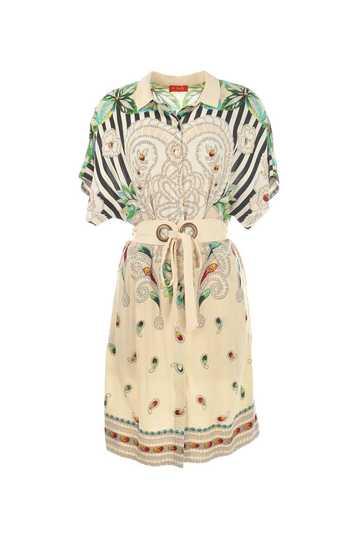 Robe chemise imprimée et ceinturée