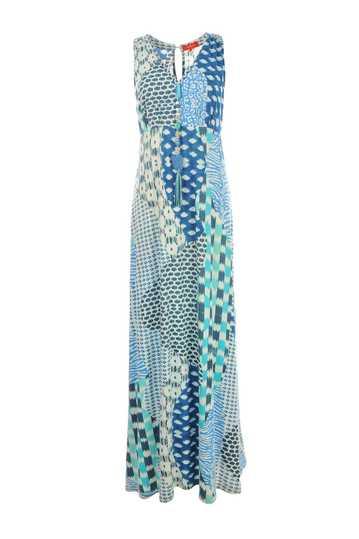 Robe longue imprimé jungle pendentif perles
