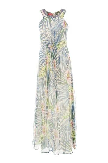 Robe longue imprimé tropical