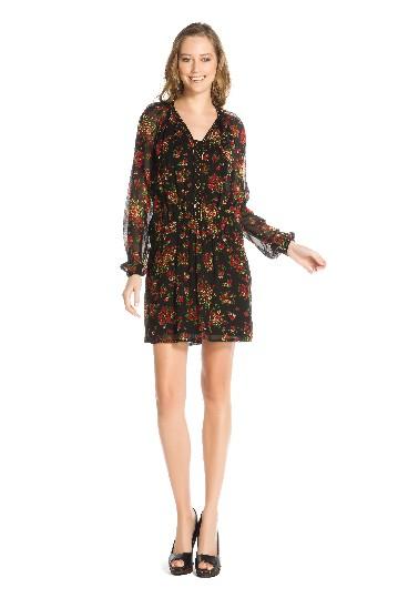Robe courte à manches longues imprimée - Robe Gastounet | Derhy