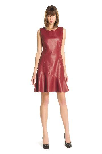 Robe courte cuir agneau - Robe Ramoneur | Derhy