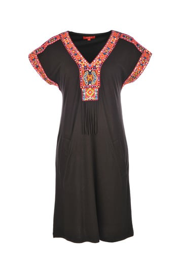 Robe manches courtes en jersey viscose stretch