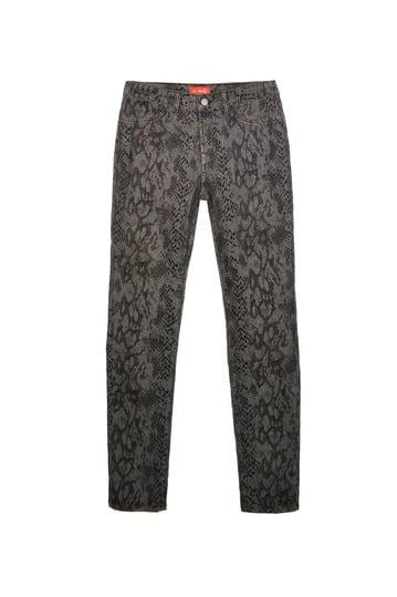 Pantalon floqué impression animal, 2 fausses poches devant.
