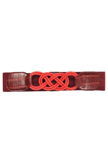 Large ceinture motif avant tressé.