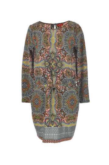 Robe large imprimée taille avec élastique