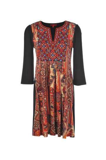 Robe en coton imprimée avec miroirs