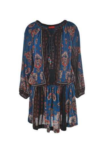 Robe imprimée type foulard avec taille élastique